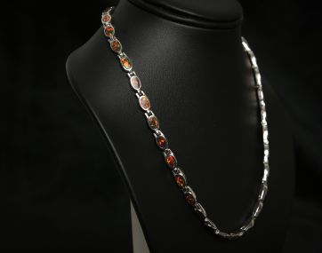 Cultured Opal Silver necklace